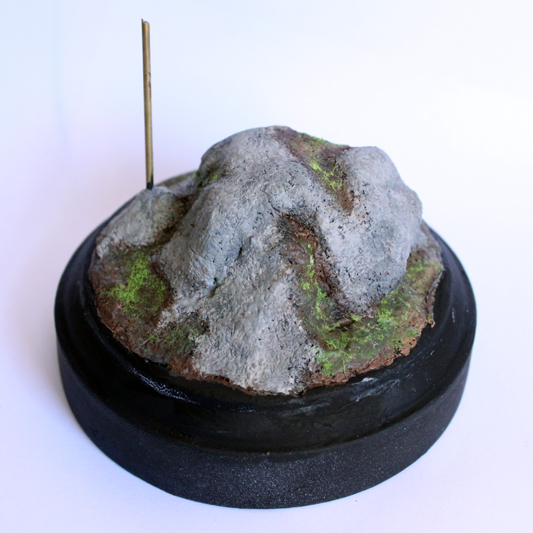 Sculpting a rocky landscape base