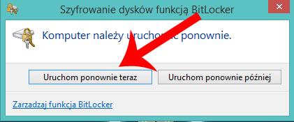 BitLocker zaszyfrowany nośnik samsung evo ssd