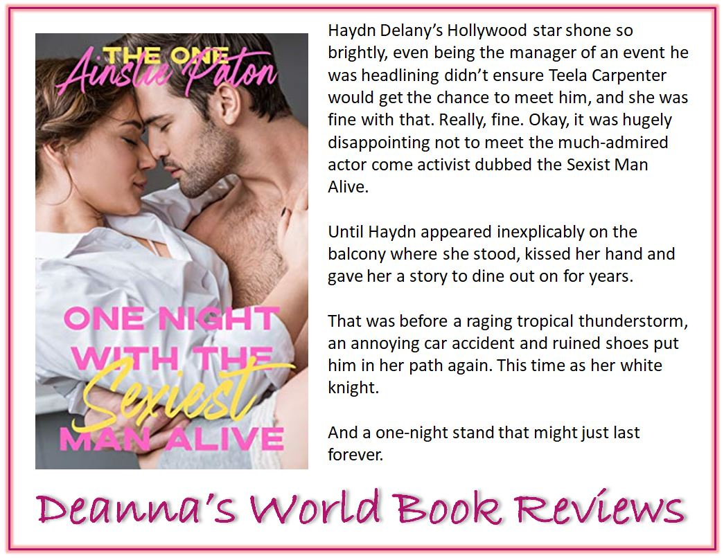 One Night With The Sexiest Man Alive by Ainslie Paton blurb