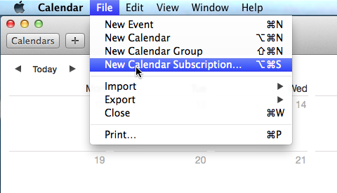 Subscribe to Teamup Calendar from iCal
