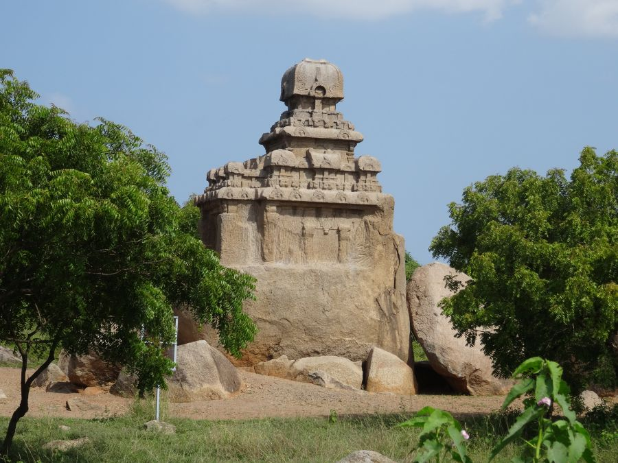 Historischer Tempel in Mahabalipuram