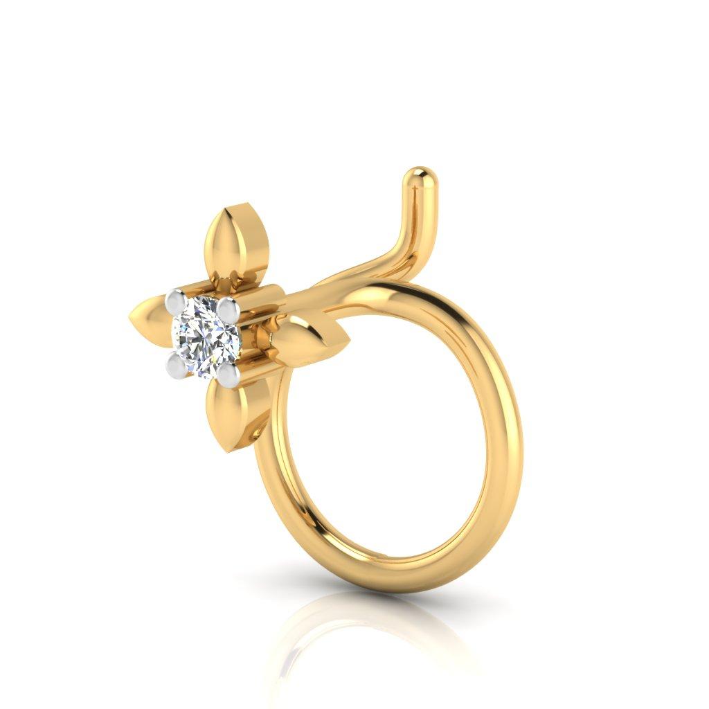 The Classy Solitaire Diamond Nose Pin