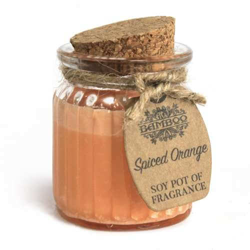 2x soy wax candle pot - spiced orange