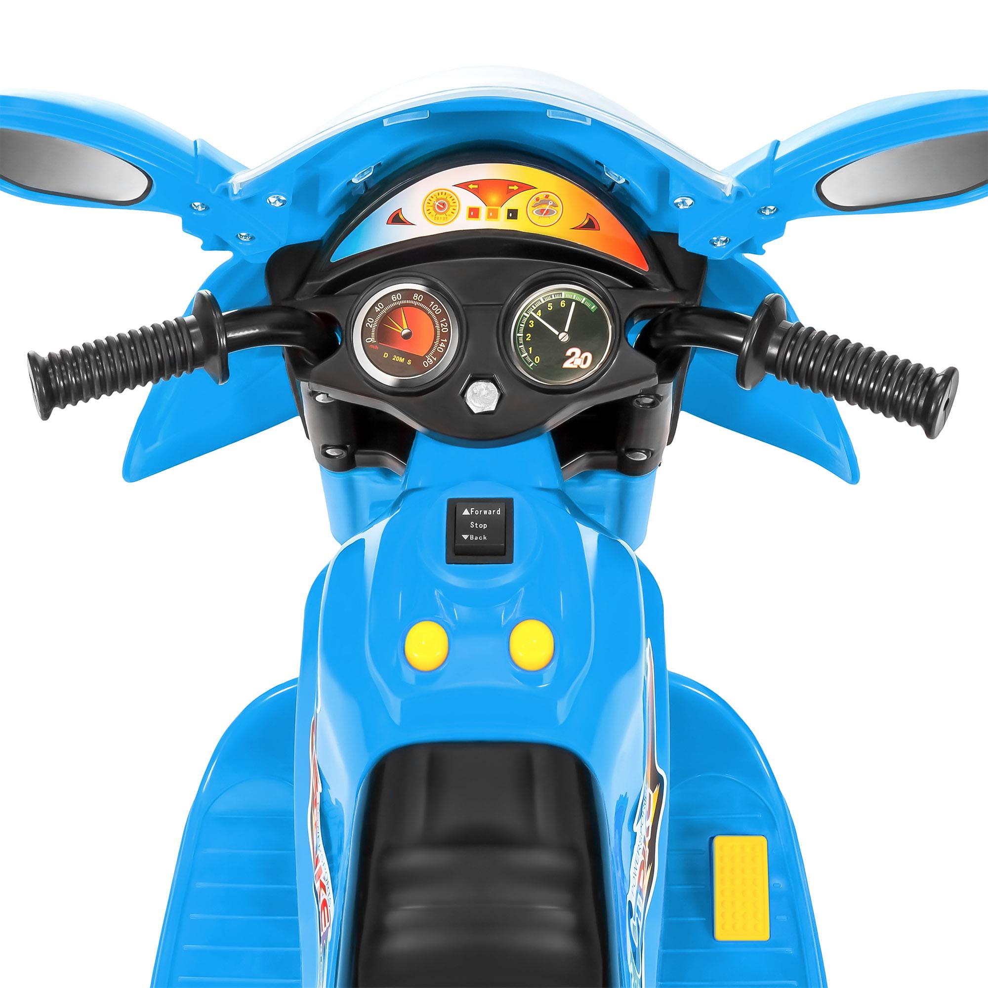 BCP-6V-Kids-3-Wheel-Motorcycle-Ride-On-Toy-w-LED-Lights-Music-Storage thumbnail 17