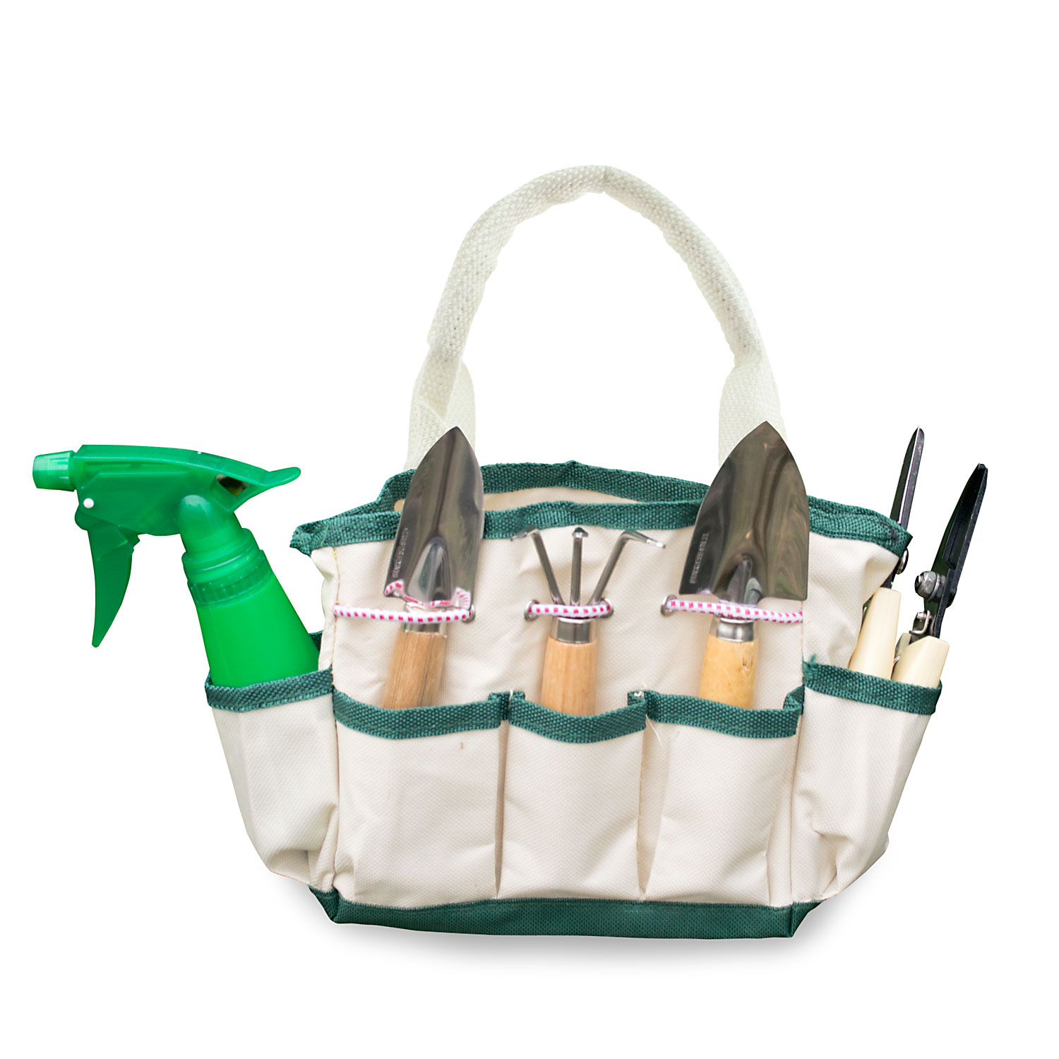 Gardenhome 7 piece small stainless steel garden tools for Small garden tool carrier