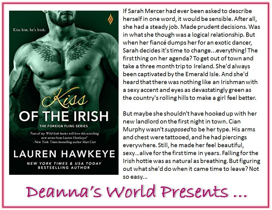 Kiss Of The Irish by Lauren Hawkeye blurb