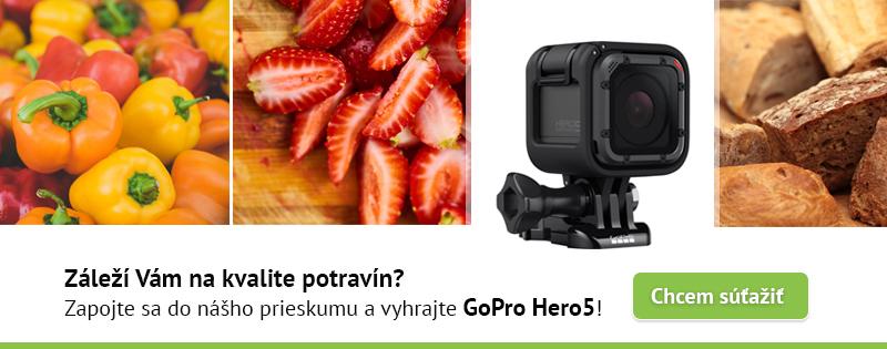 Zúčastni sa prieskumu a vyhraj GoPro Hero 5!
