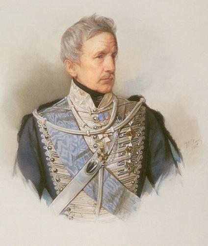 Gau V, Retrato de P.Palen, acuarela