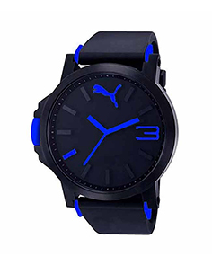 MyCross Mens Black Dial Analog Watch - Blue