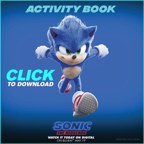Sonic the hedgehog free printable activity book