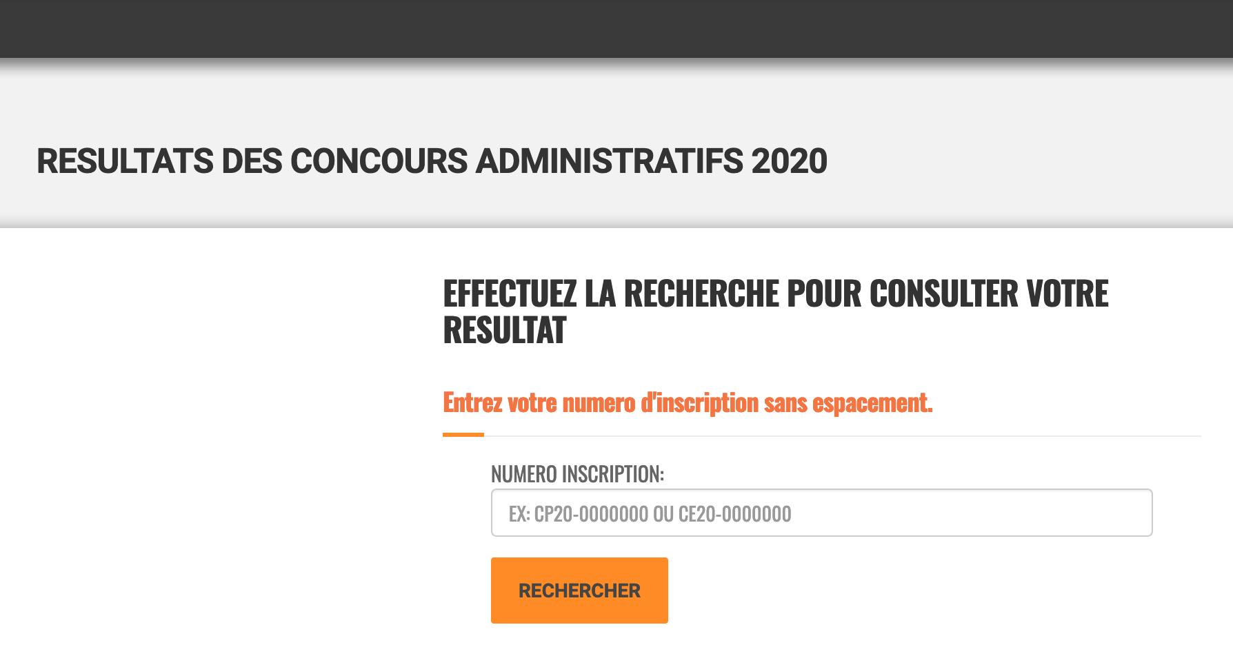 Résultats des Concours Administratifs 2021-2022 ci cote d'ivoire www.fonctionpublique.egouv.ci