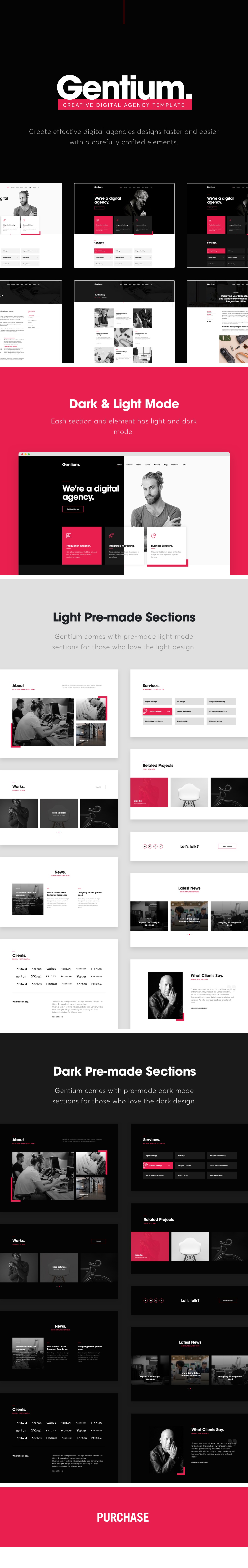 Gentium - A creative digital and marketing agency OnePage Template - 2