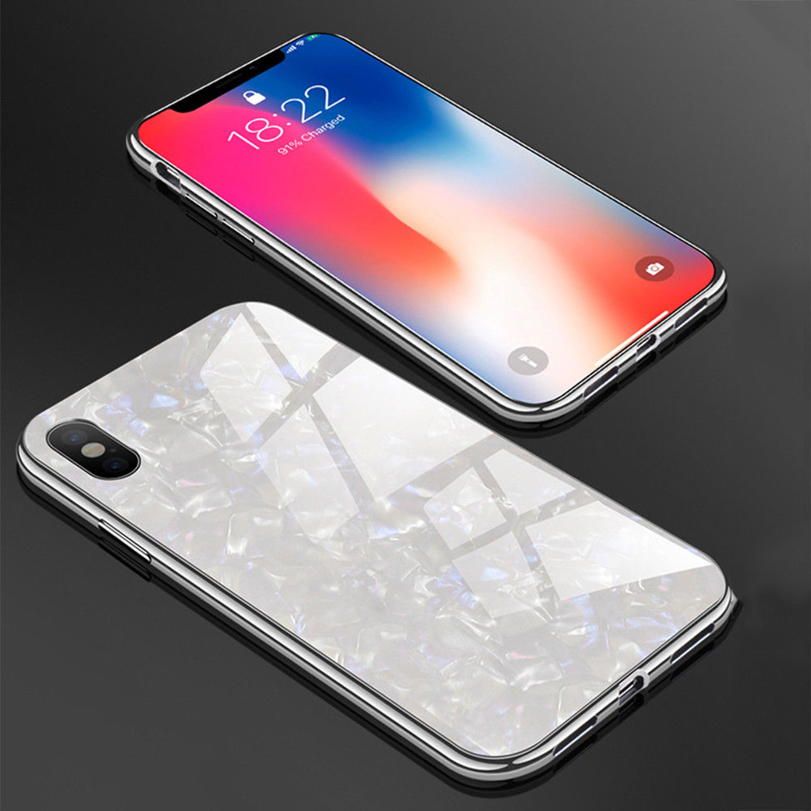 Luxury-Marble-Tempered-Glass-Case-Cover-For-Apple-iPhone-X-XS-XR-Max-10-8-7-6s-6 miniature 47