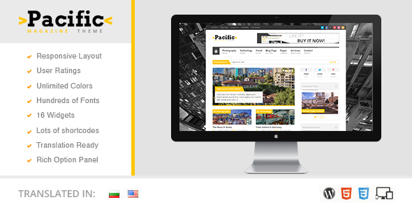 pacific preview Solaris   Responsive WordPress Magazine Theme (Blog / Magazine)