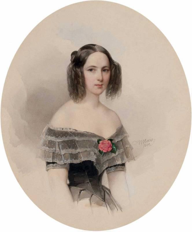 Gau V, N.N. Pushkina 1844, acuarela