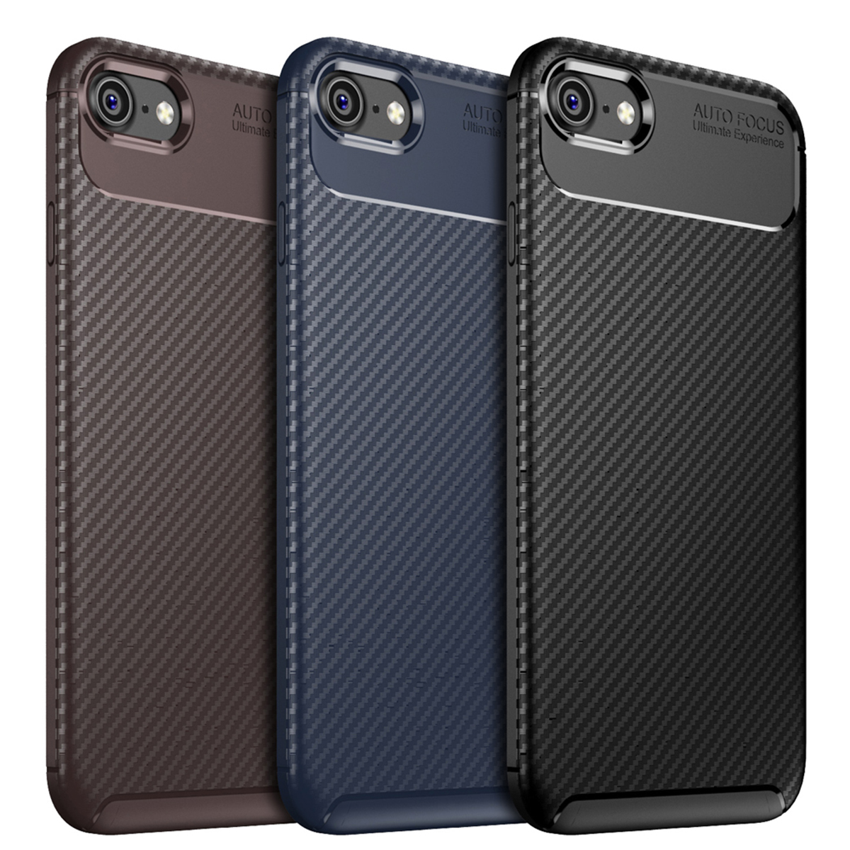 Case-for-iPhone-Carbon-Fibre-Soft-Cover-TPU-Silicone-Slim-11-X-XR-Max-8-7-6-Plus thumbnail 21