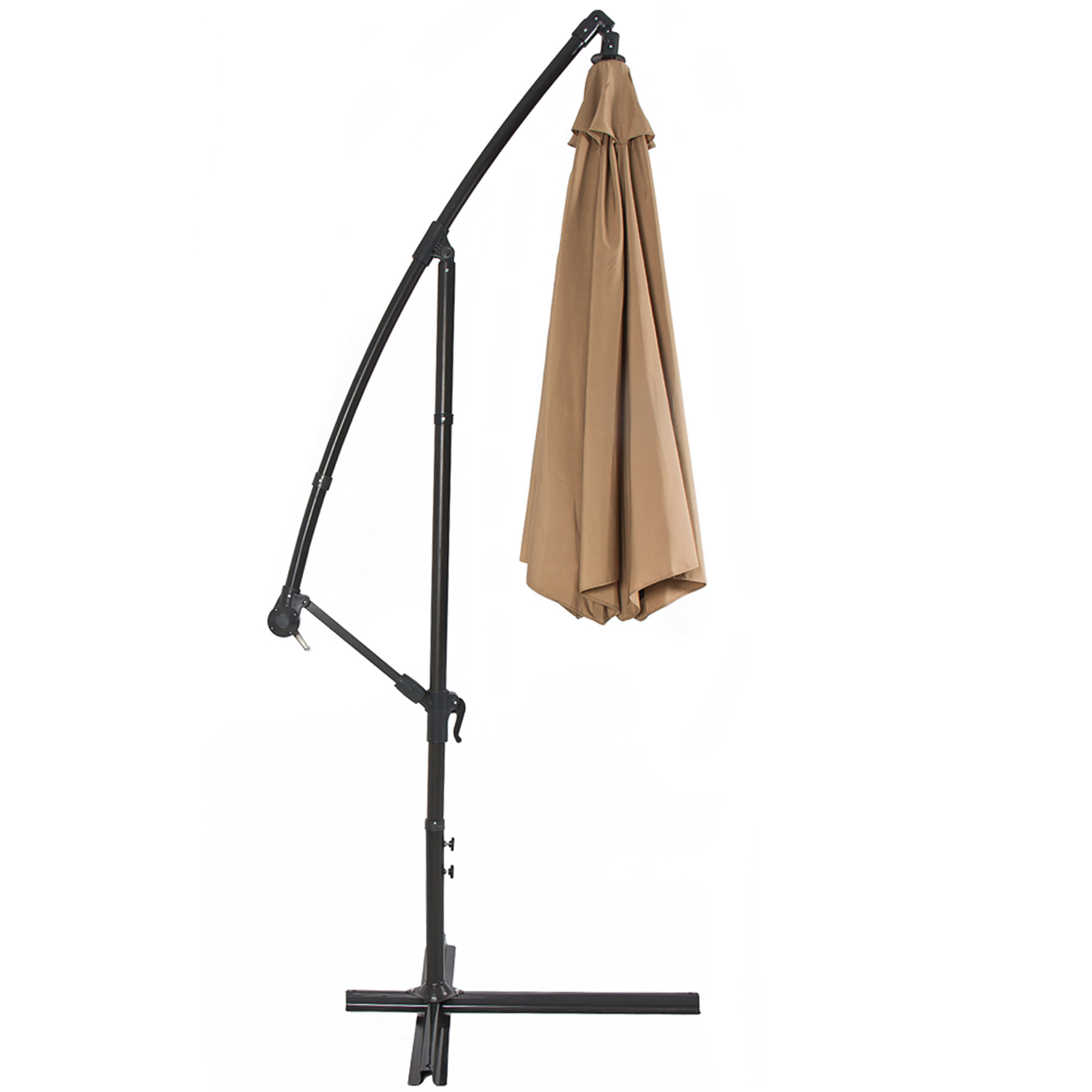 BCP-10ft-Offset-Hanging-Market-Patio-Umbrella-w-Tilt-Adjustment-Hand-Crank thumbnail 9
