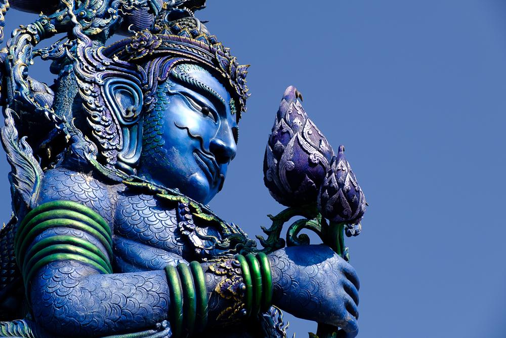 Raad eens welke tempel dit was? Ja hoor, de blauwe tempel!