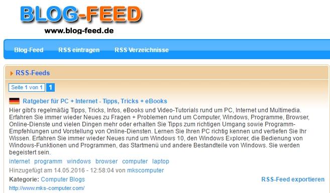 Auf speziellen Portalen werden dank RSS Feed die eigenen Inhalte automatisch geteilt.