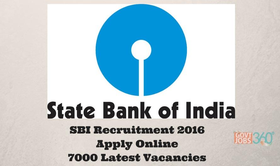 SBI Clerk Recruitment 2016 Apply Online 7000 Probationary Officer Latest Vacancies