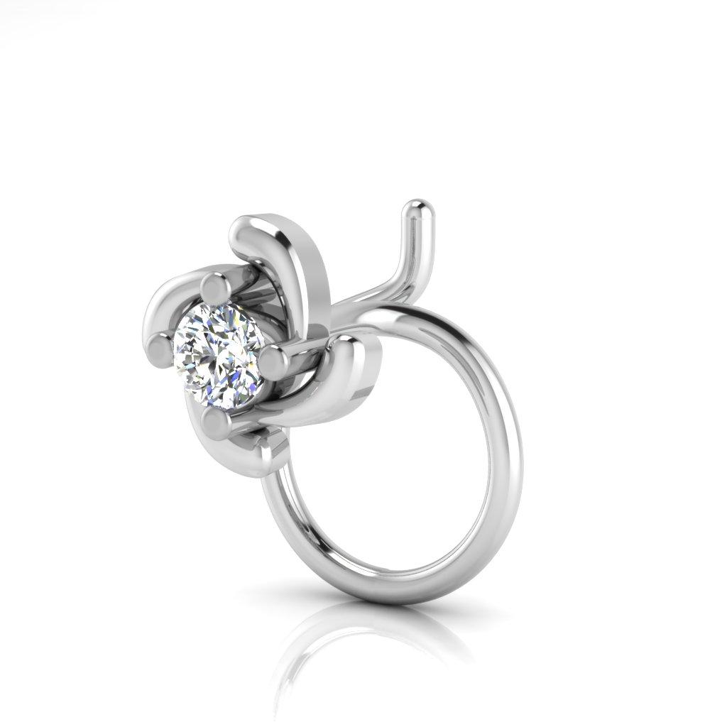 The Signature Solitaire Diamond Nose Pin