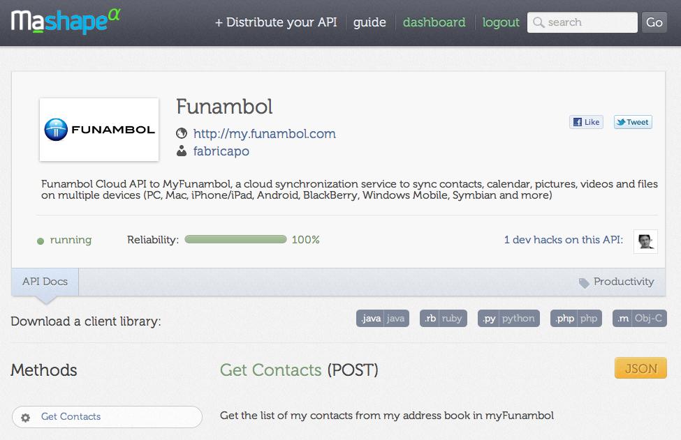 Funambol API
