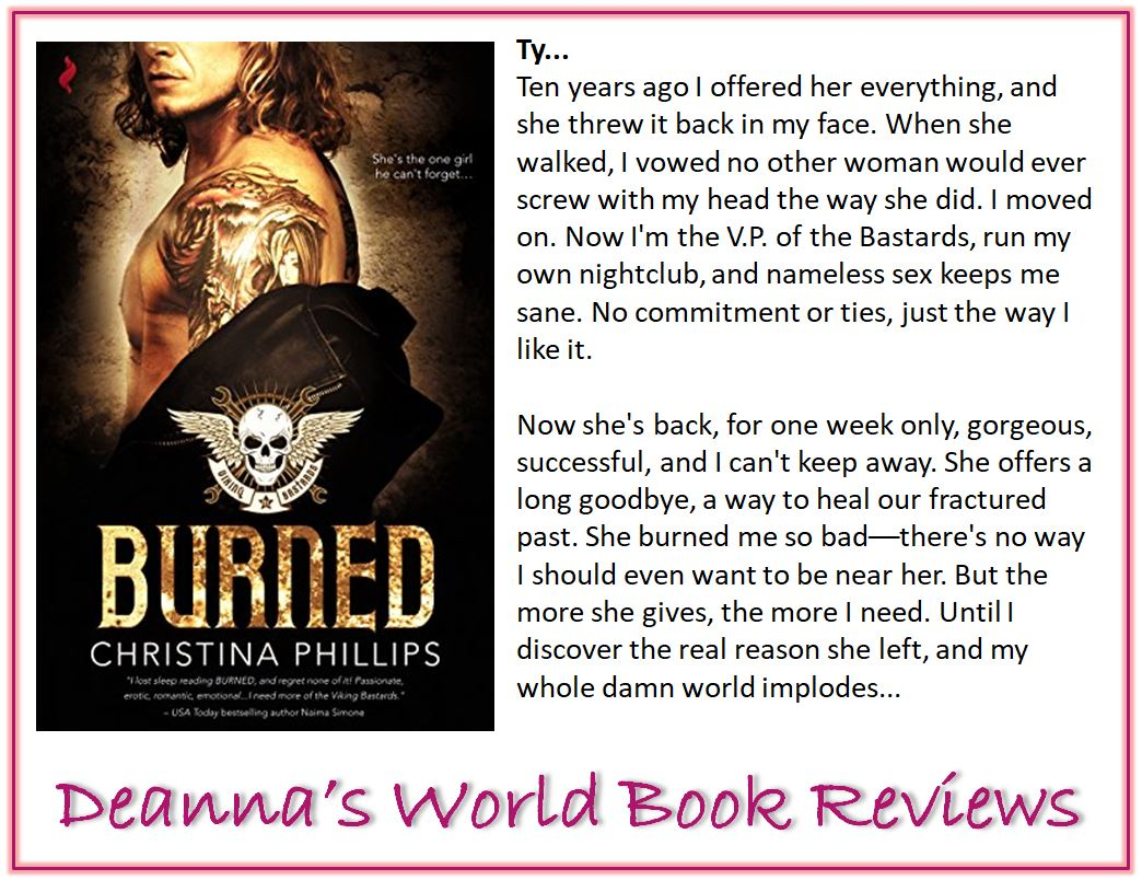 Burned by Christina Phillips blurb