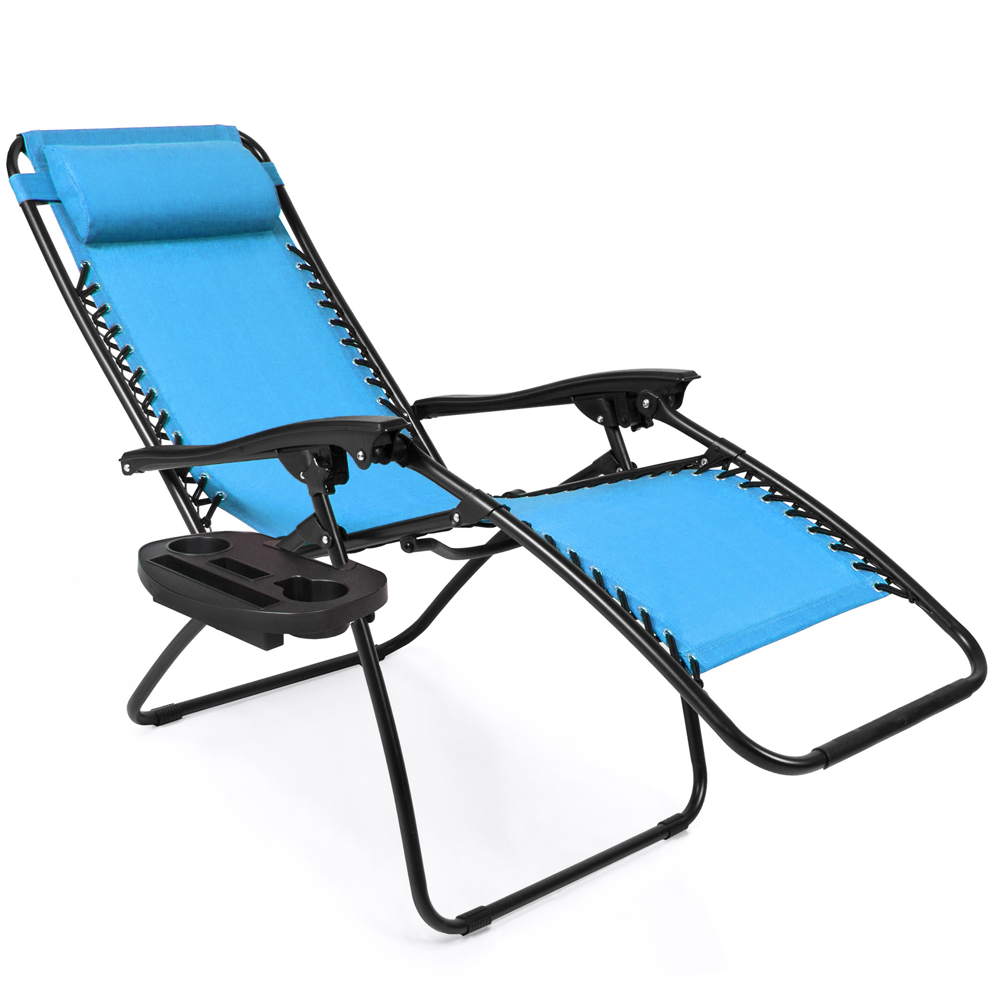BCP-Set-of-2-Adjustable-Zero-Gravity-Patio-Chair-Recliners-w-Cup-Holders thumbnail 25