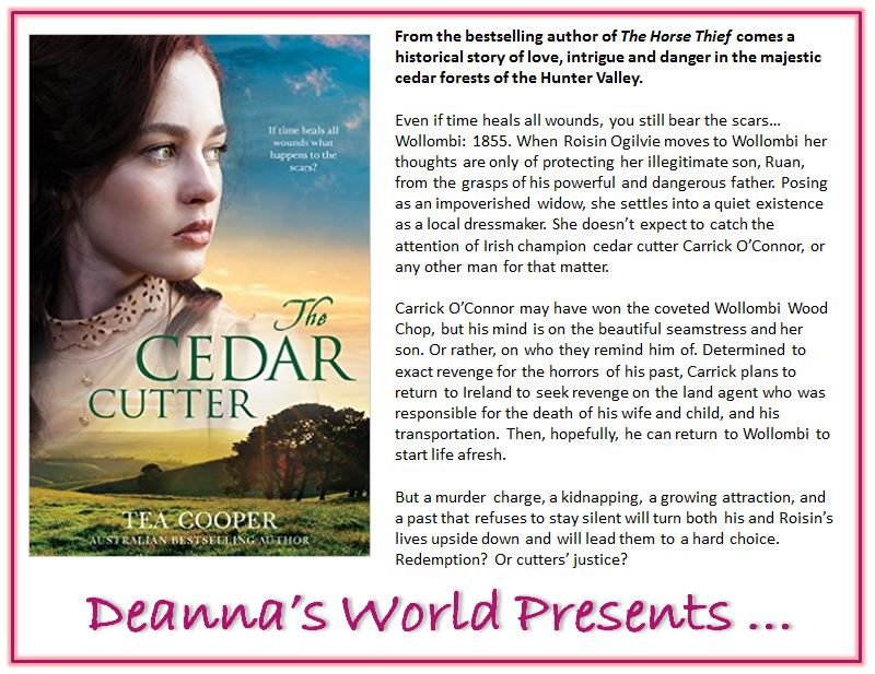 The Cedar Cutter by Tea Cooper blurb