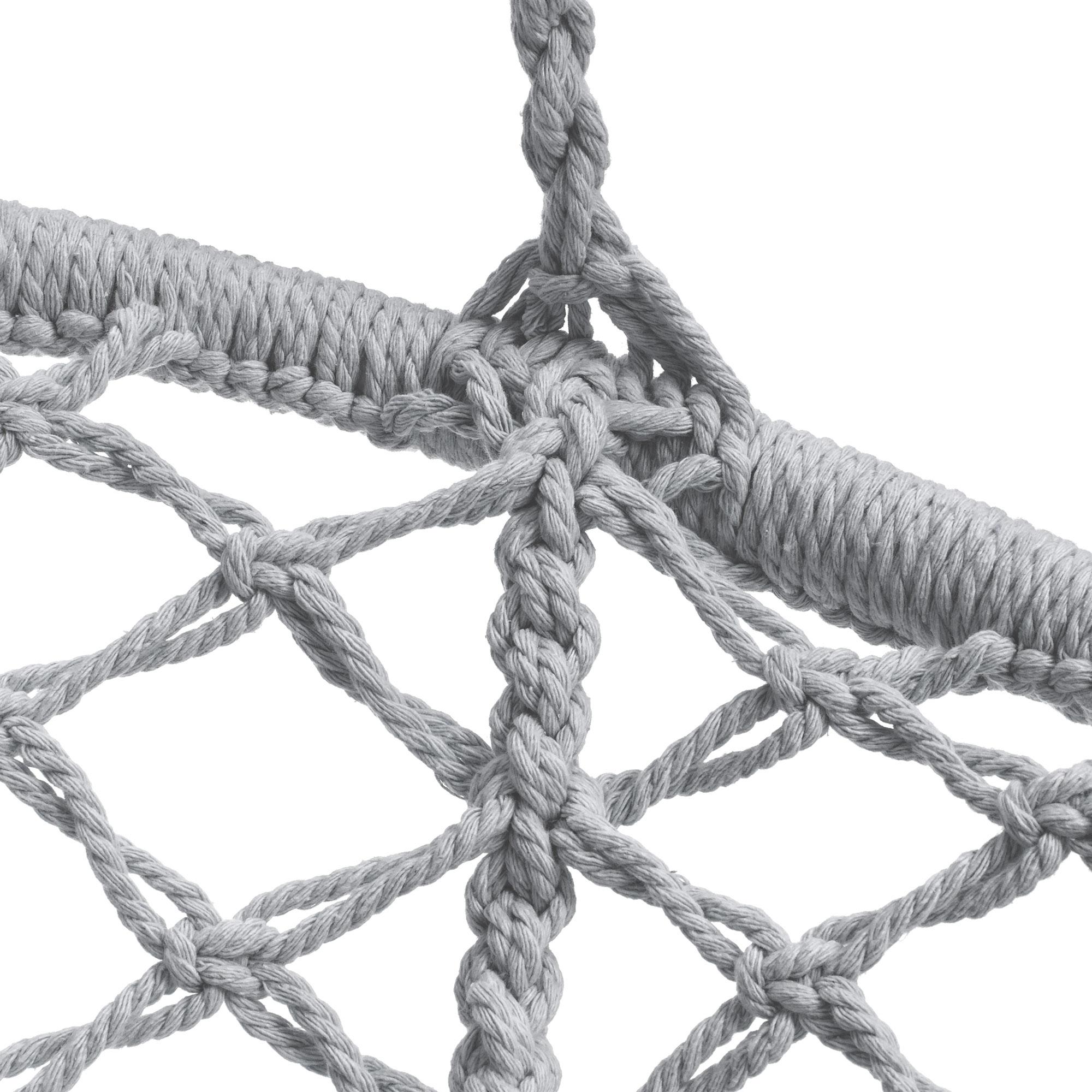 BCP-Handwoven-Cotton-Macrame-Hammock-Hanging-Chair-Swing-w-Backrest thumbnail 26