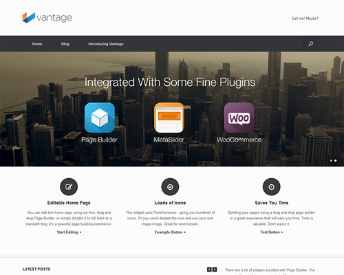 vantage - free wordpress theme