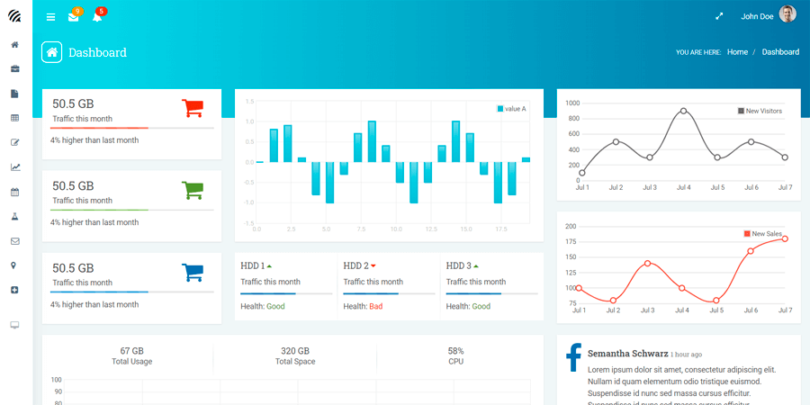 WOW – Bootstrap Admin Template