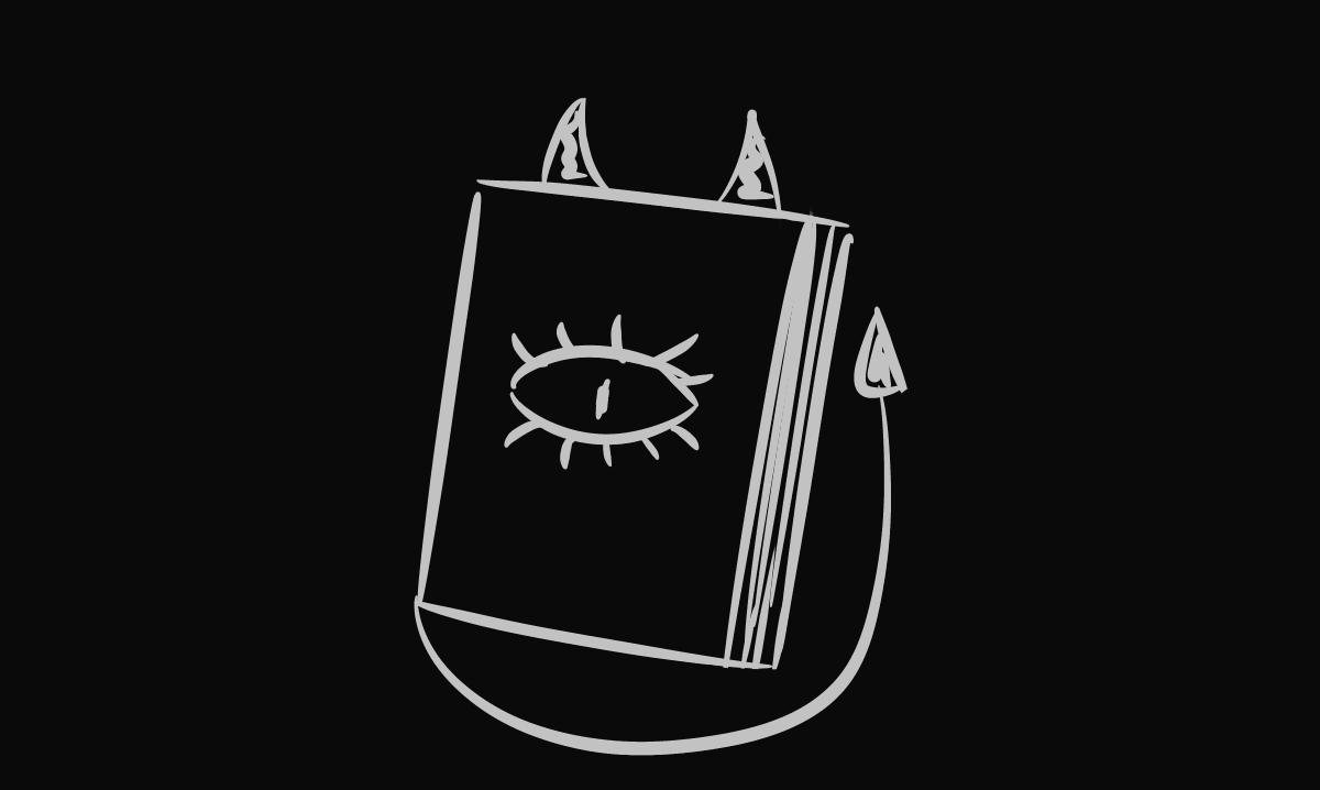 Zakładka do książek mini-demon/duch do druku