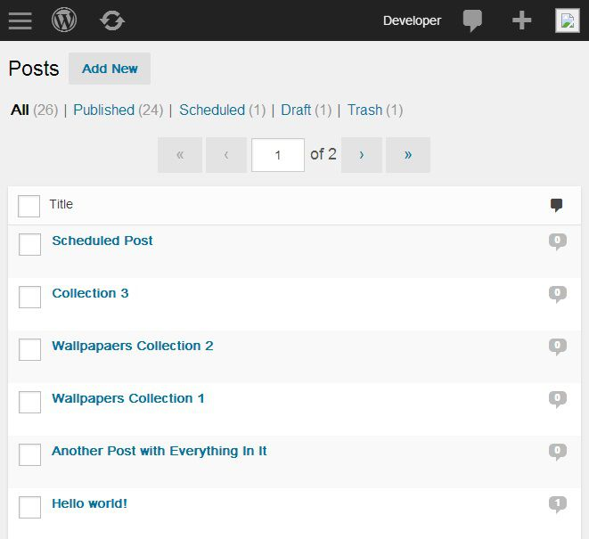 MP6 - Giao diện Dashboard Admin mới cho WordPress