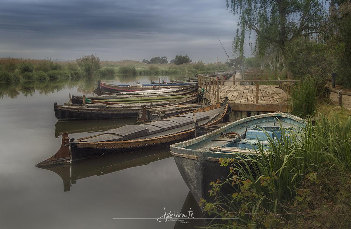 """22.- """"Albufera, barcas""""- Jose Vicente"""