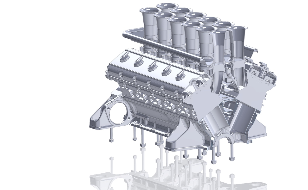 GTO Engineering reveals Squalo 460bhp V12 engine details