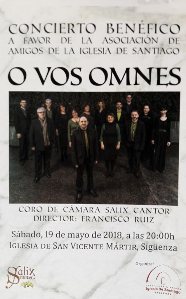 Cartel anunciador del evento, con una visión de los integrantes del coro