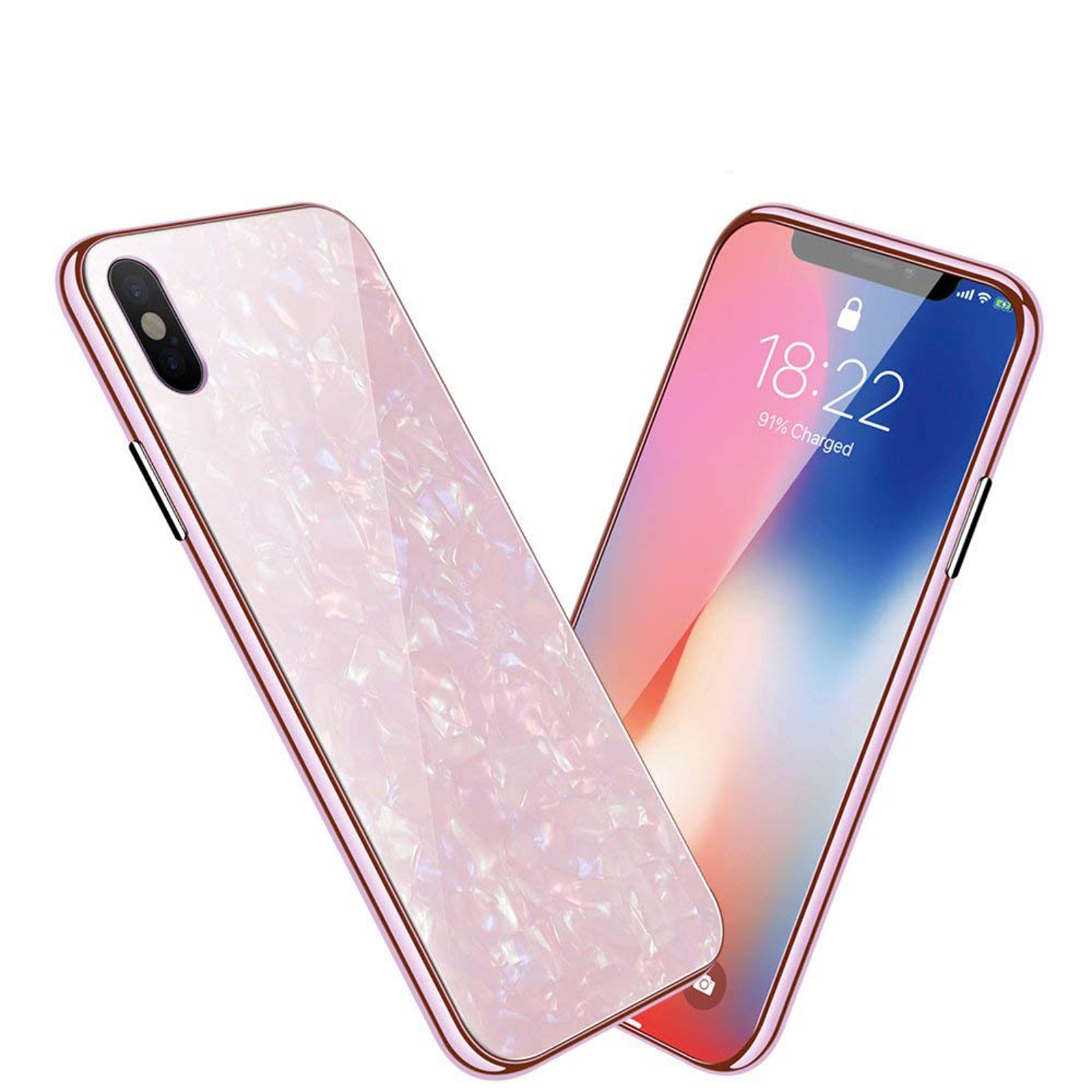 Luxury-Marble-Tempered-Glass-Case-Cover-For-Apple-iPhone-X-XS-XR-Max-10-8-7-6s-6 miniature 36