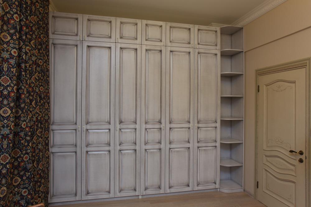 шкаф гардероб эмаль патина