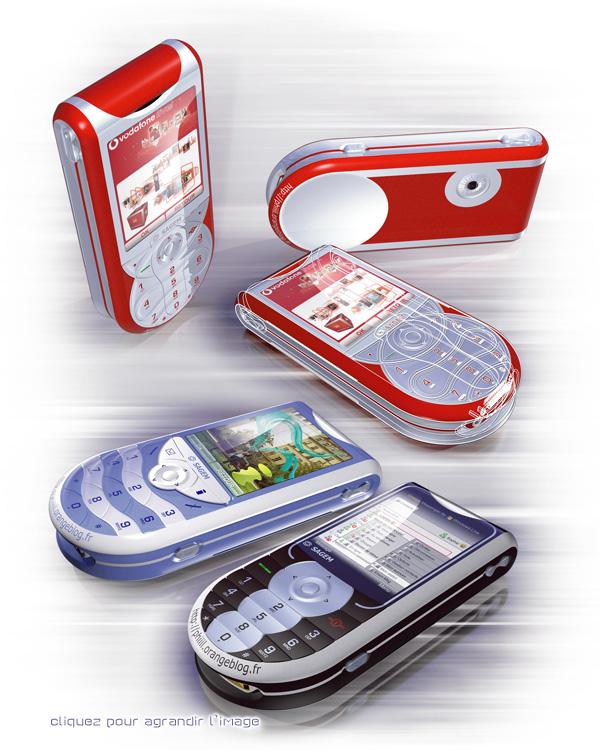 Mobiles Sagem My515X en 3D. Cliquez pour voir en HD