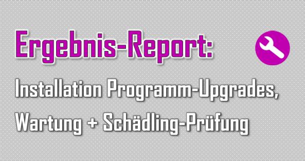 Manchmal gibt es Aufträge, die schon fast Routine sind, da nur Programme bzw. Upgrades installiert sowie Rechner auf Schädlinge geprüft werden.