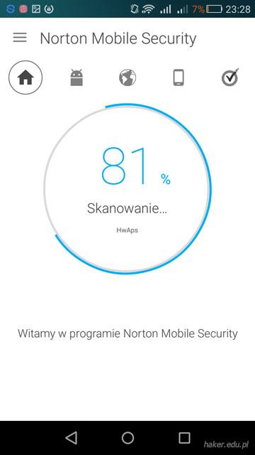 Trzecie miejsce w teście antywirusów na telefon Norton Mobile Security