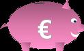 Grafik Sparschwein: Diese Grafik-Datei könnt ihr als Word-, GIMP- und PNG-Datei kostenlos herunterladen.