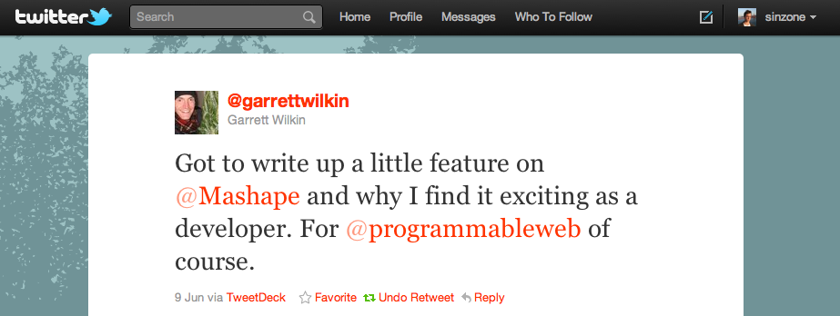 Twitter love from @garrettwilkin