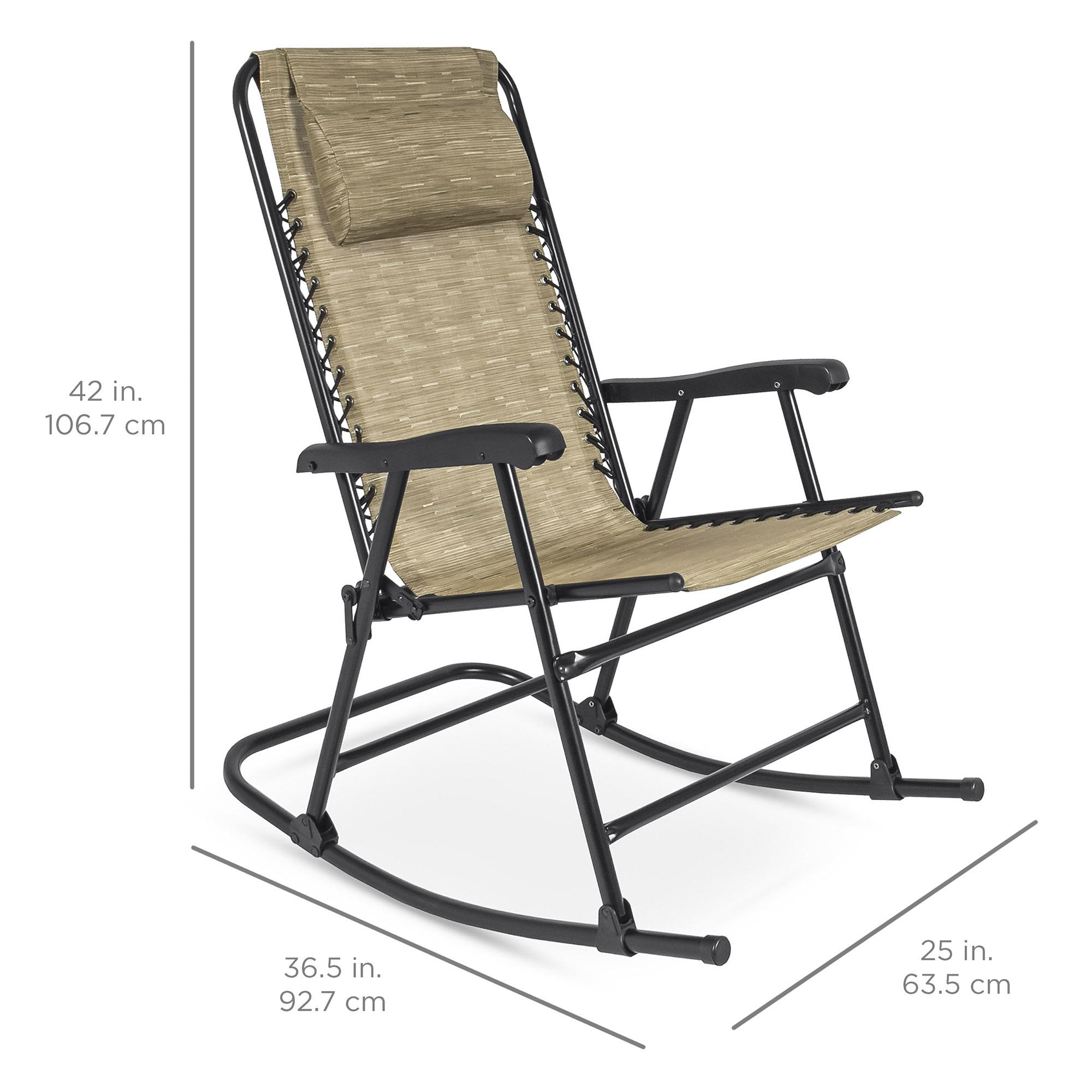 BCP-Foldable-Zero-Gravity-Patio-Rocking-Lounge-Chair thumbnail 14