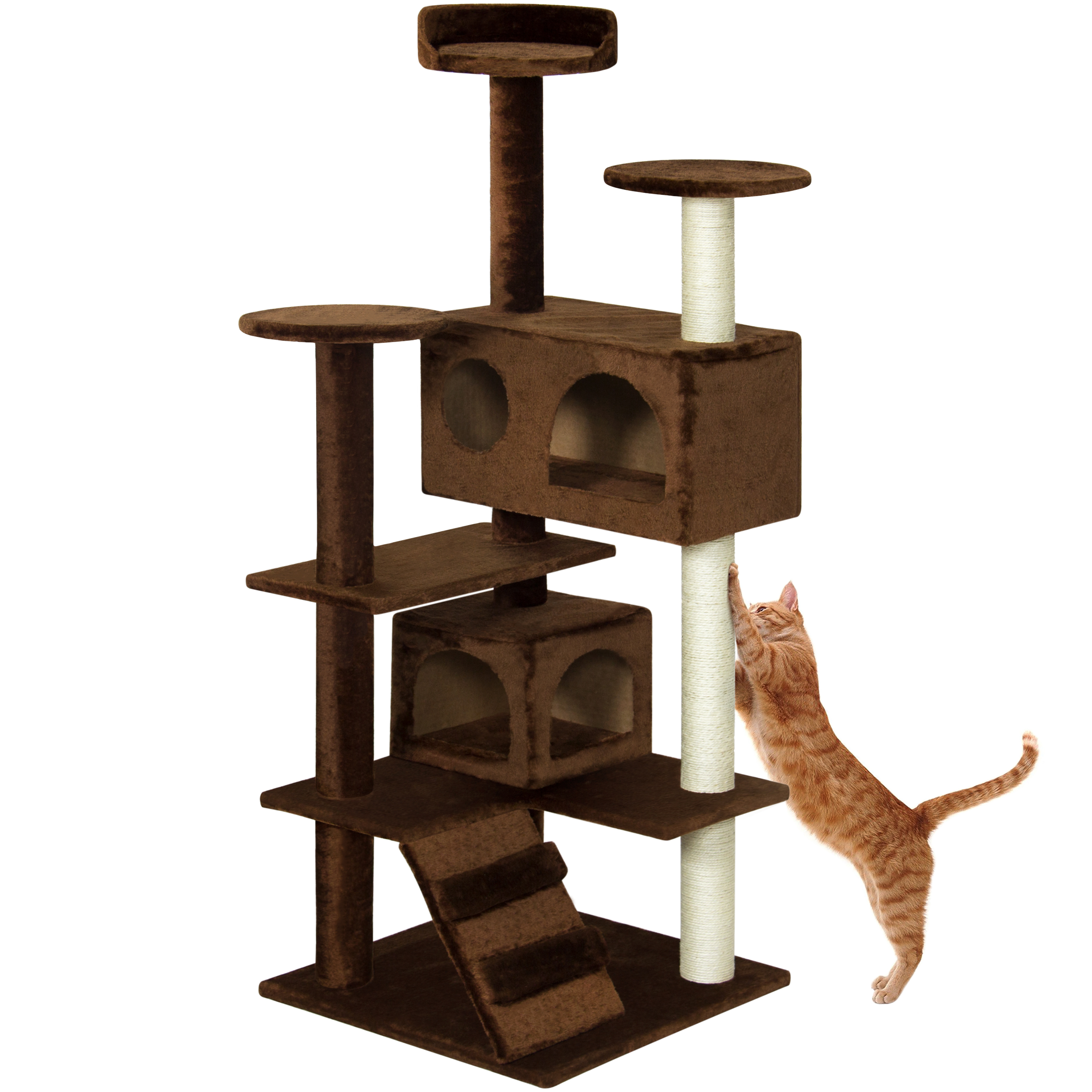 Best Choice Products 53in Multi-Level Cat Tree Scratcher