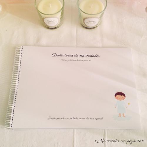 mesa dulce primera comunión álbum de firmas y fotos, pegatinas personalizadas
