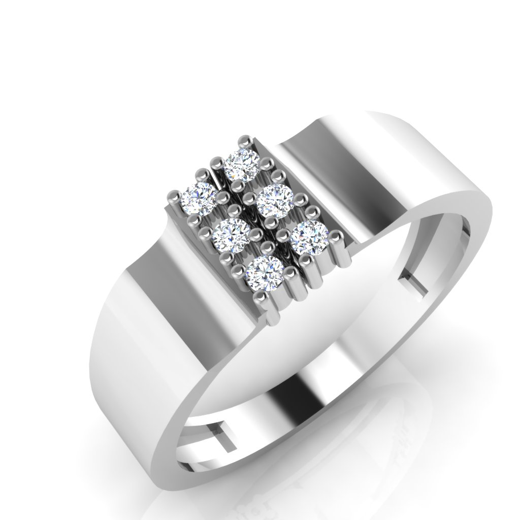 The Lavender Diamond Mens Ring