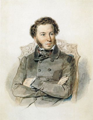 Sokolov Retrato A Pushkin acuarela