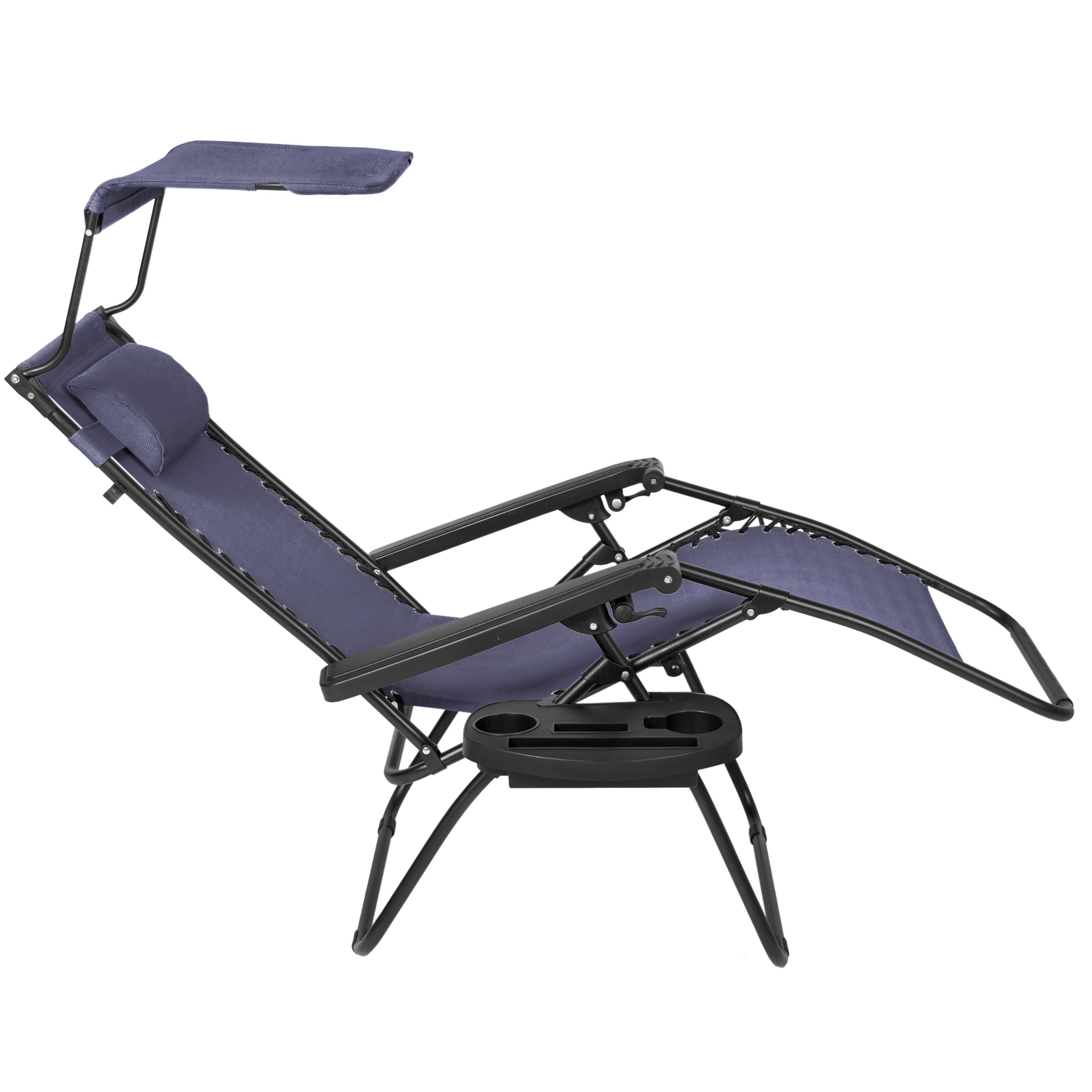 BCP-Folding-Zero-Gravity-Recliner-Lounge-Chair-w-Canopy-Cup-Holder thumbnail 52